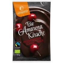 Landgarten Amarenakirsche in Zartbitterschokolade Bio 10 x 50 g
