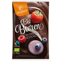 Landgarten Beeren in dreierlei Schokoladen Bio 10 x 50 g
