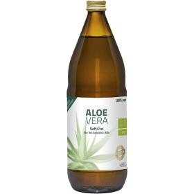 Aloe Vera Saft bio 100% pur naturtrüb Glasflasche 1000 ml