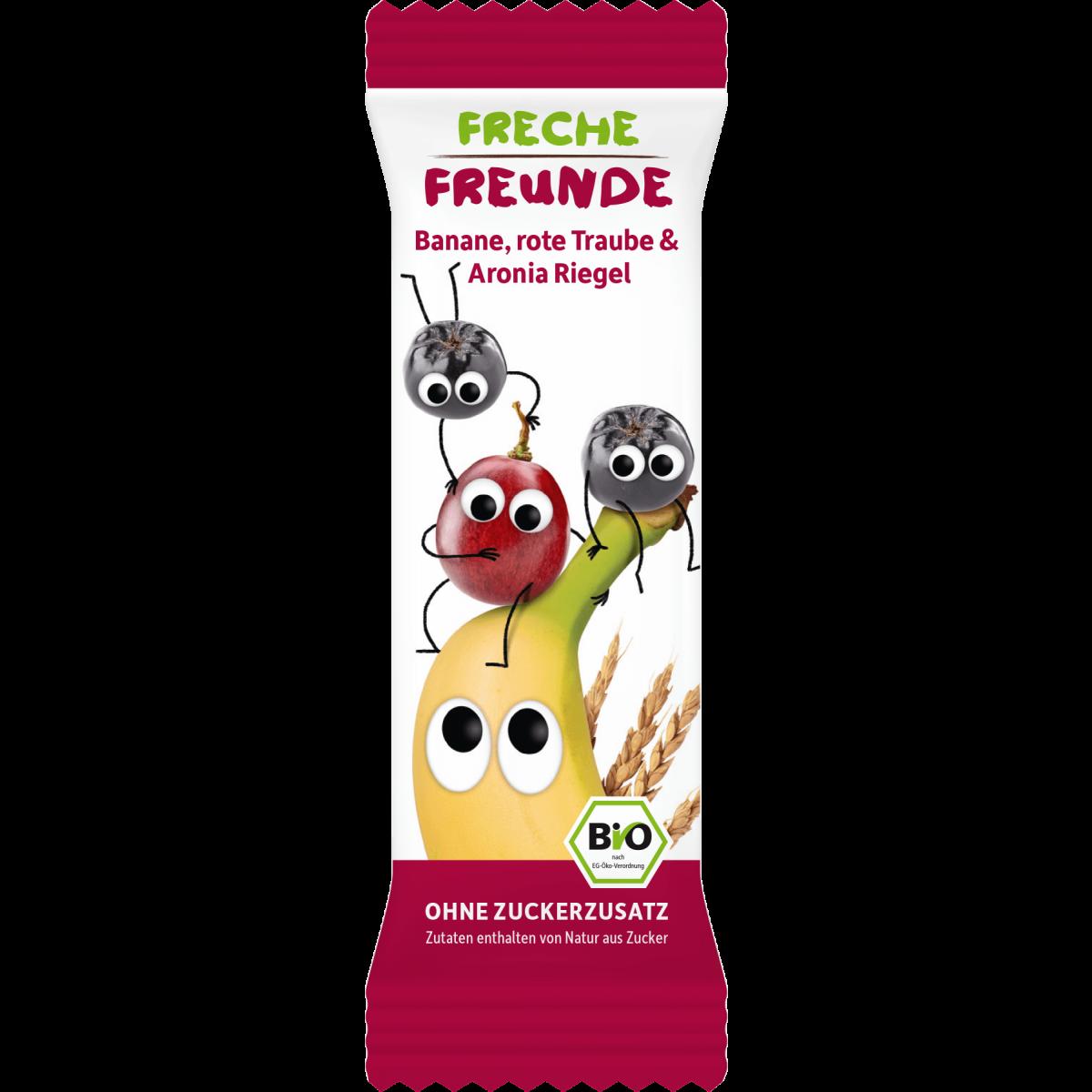 Freche Freunde Banane, rote Traube & Aronia Riegel 4 x 23g (6er Pack)