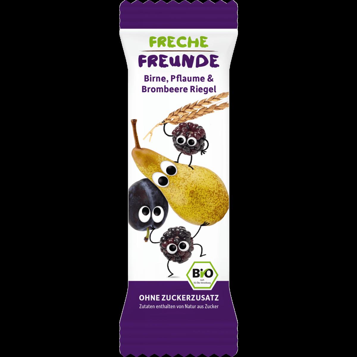 Freche Freunde Birne, Pflaume & Brombeere Riegel 4 x 23g (6er Pack)
