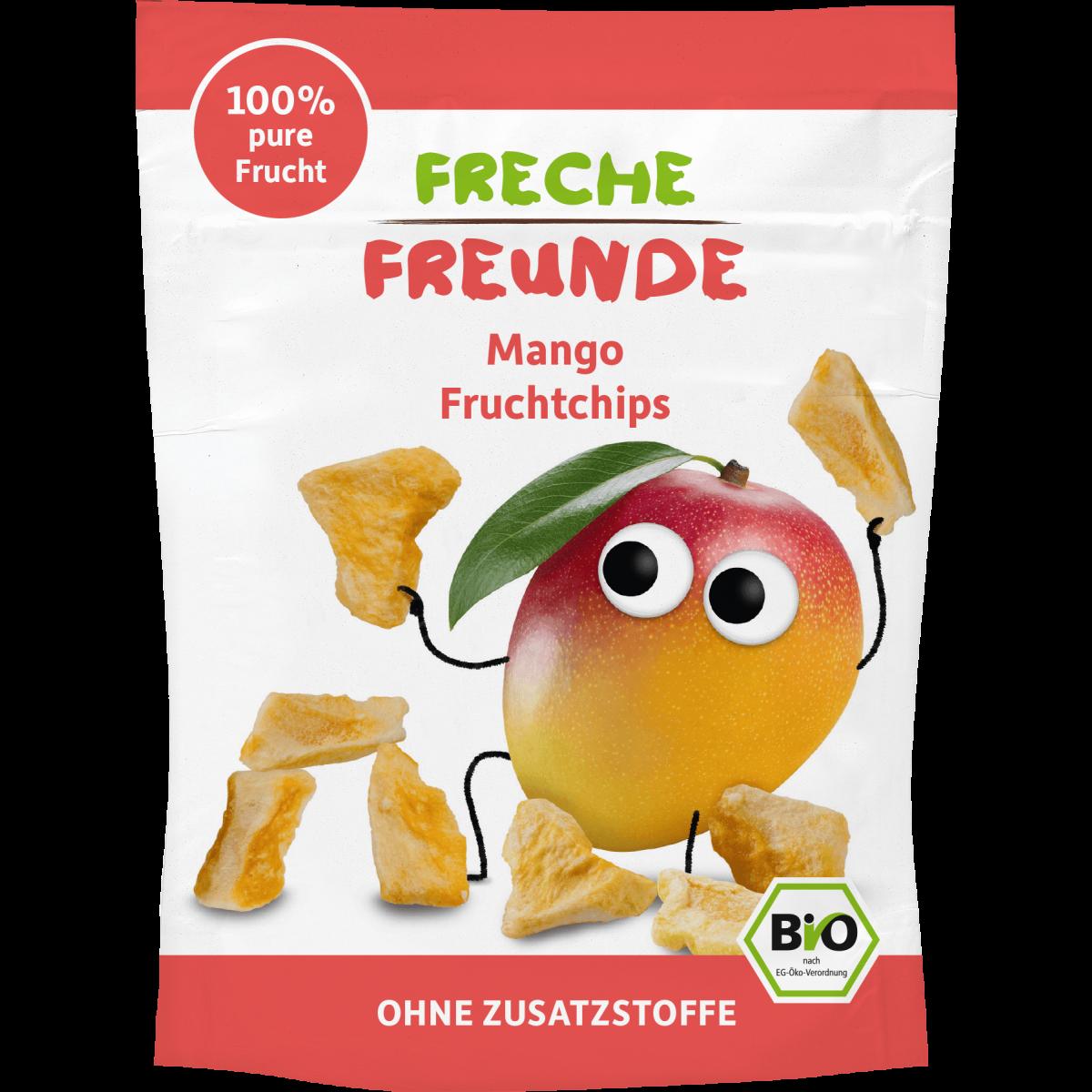 Freche Freunde Fruchtchips Mango Beutel 14g (6er Pack)
