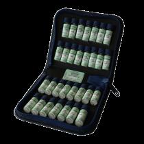 homöopathische Taschenapotheke à 30 homöopathische Einzelmittel nach Dr. M.S. Jus im Lederetui
