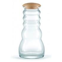 Pinus Cembra Wasserkaraffe Glas Cadus White 1 Liter