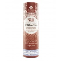Ben & Anna natürlicher veganer Deodorant Stick ohne Aluminium NORDIC TIMBER 60g