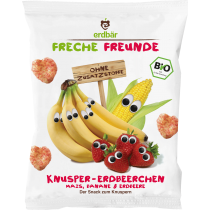 Freche Freunde Knusper- Erdbeerechen Mais, Banane & Erdbeere 25g (5er Pack)