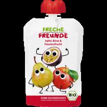 Freche Freunde Quetschmus Apfel, Birne & Passionsfrucht Beutel 100g (6er Pack)