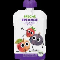 Freche Freunde Quetschmus Apfel, Erdbeere & Feige Beutel 100g (6er Pack)