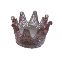 Windlicht Crown klein rose