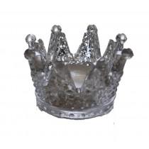 Windlicht Crown klein silber