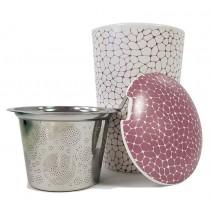 """Tee Tasse """"Stone Lilac"""" mit Sieb (weiss/lila)"""