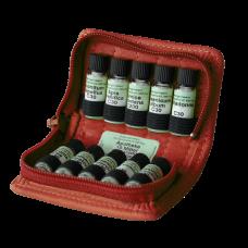 homöopathische Taschenapotheke à 10 homöopathische Einzelmittel nach M.S. Jus im Bio - Lederetui Lotus