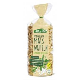 Allos Amaranth-Mais Waffel mit Rosmarin und Meersalz 6 Pack à 100 g