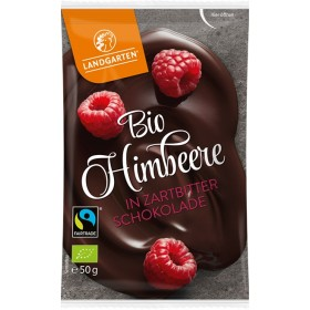 Landgarten Himbeere in Zartbitterschokolade Bio 10 x 50 g