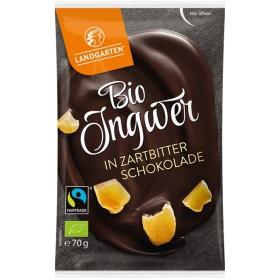 Landgarten Ingwer in Zartbitterschokolade Bio 10 x 70 g