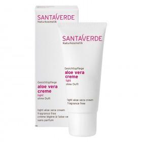 Santaverde aloe vera creme light ohne duft 30 ml