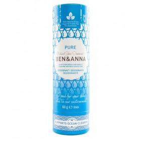 Ben & Anna natürlicher veganer Deodorant Stick ohne Aluminium PURE 60g