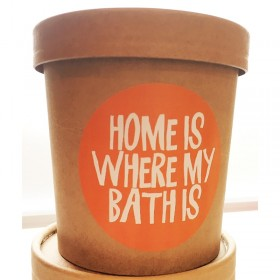 Kokos Milchbad - home is where my bath is - veganes Milchbad