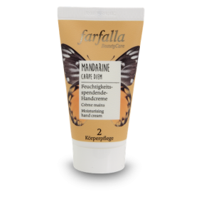 farfalla Mandarine Carpe Diem, Feuchtigkeitsspendende Handcreme 50ml