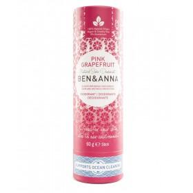 Ben & Anna natürlicher veganer Deodorant Stick ohne Aluminium PINK GRAPEFRUIT 60g
